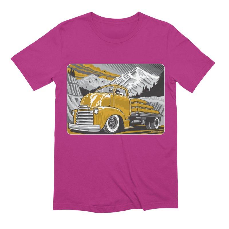 MOUNTAIN HARVEST Men's Extra Soft T-Shirt by Max Grundy Design's Artist Shop