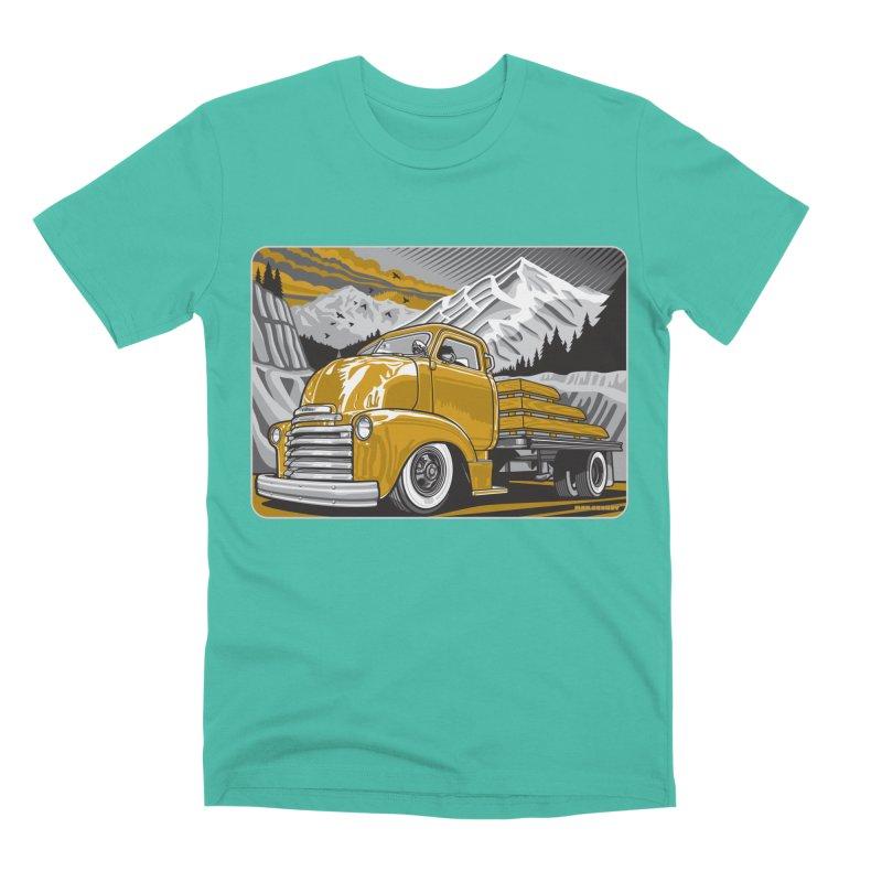 MOUNTAIN HARVEST Men's Premium T-Shirt by Max Grundy Design's Artist Shop