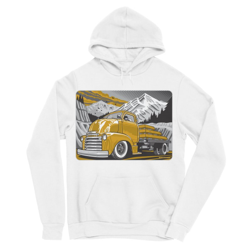 MOUNTAIN HARVEST Men's Sponge Fleece Pullover Hoody by Max Grundy Design's Artist Shop