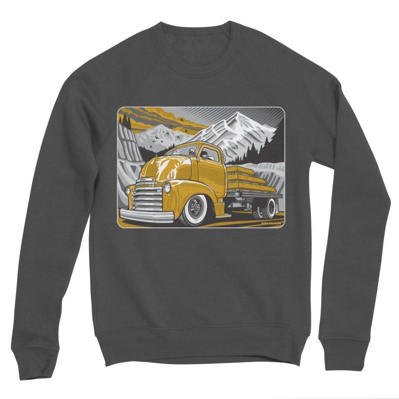 MOUNTAIN HARVEST Men's Sponge Fleece Sweatshirt by Max Grundy Design's Artist Shop