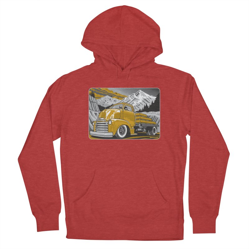 MOUNTAIN HARVEST Women's French Terry Pullover Hoody by Max Grundy Design's Artist Shop