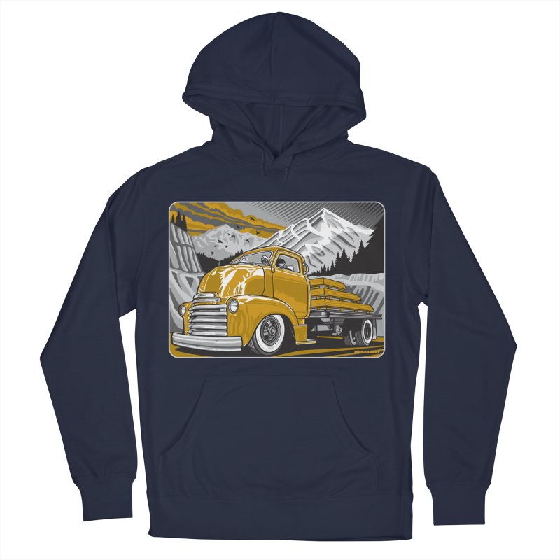MOUNTAIN HARVEST Men's French Terry Pullover Hoody by Max Grundy Design's Artist Shop