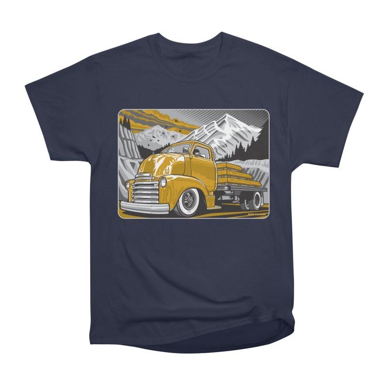 MOUNTAIN HARVEST Women's Heavyweight Unisex T-Shirt by Max Grundy Design's Artist Shop