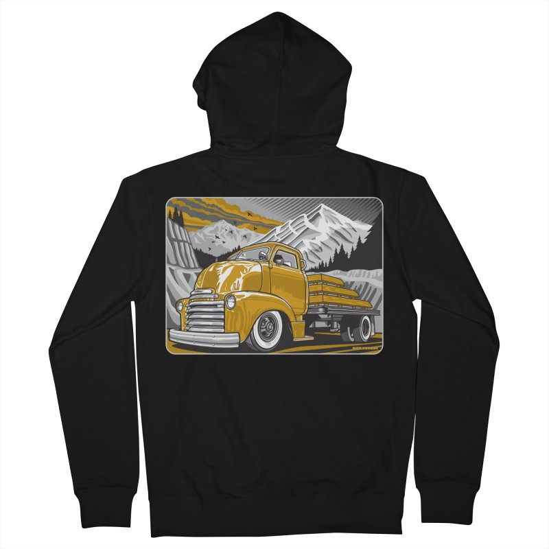 MOUNTAIN HARVEST Women's French Terry Zip-Up Hoody by Max Grundy Design's Artist Shop