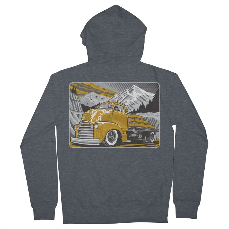 MOUNTAIN HARVEST Men's French Terry Zip-Up Hoody by Max Grundy Design's Artist Shop