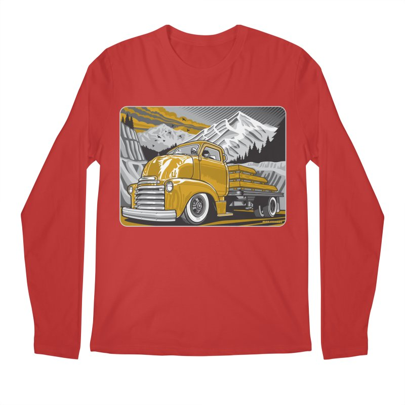 MOUNTAIN HARVEST Men's Regular Longsleeve T-Shirt by Max Grundy Design's Artist Shop