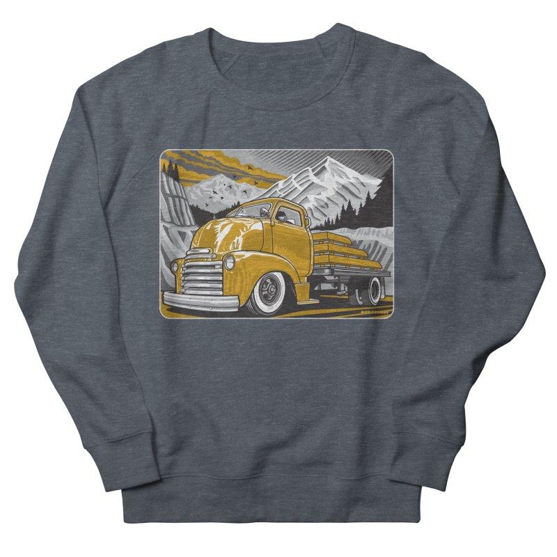 MOUNTAIN HARVEST Women's French Terry Sweatshirt by Max Grundy Design's Artist Shop