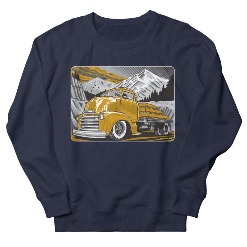 MOUNTAIN HARVEST Women's French Terry Sweatshirt by Max Grundy Design's Artist Shop