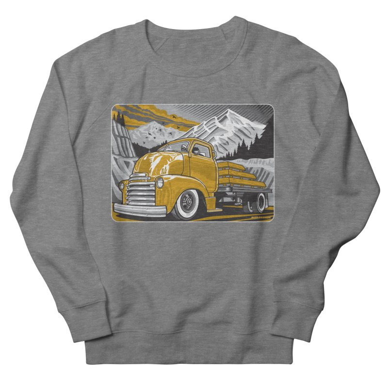MOUNTAIN HARVEST Men's French Terry Sweatshirt by Max Grundy Design's Artist Shop