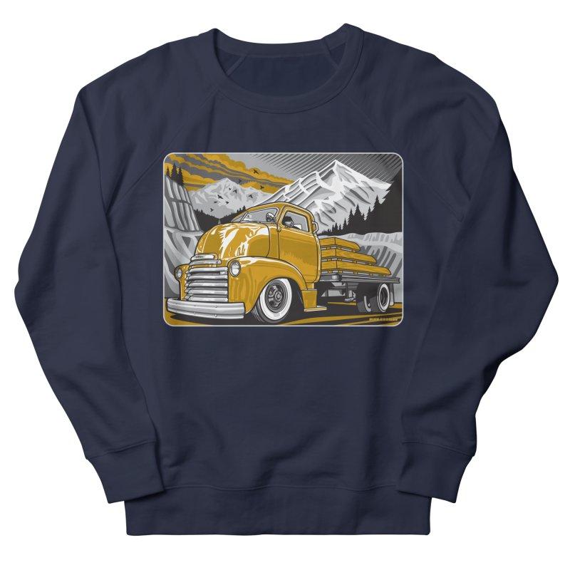 MOUNTAIN HARVEST Men's French Terry Sweatshirt by Max Grundy Design's Artist Shop
