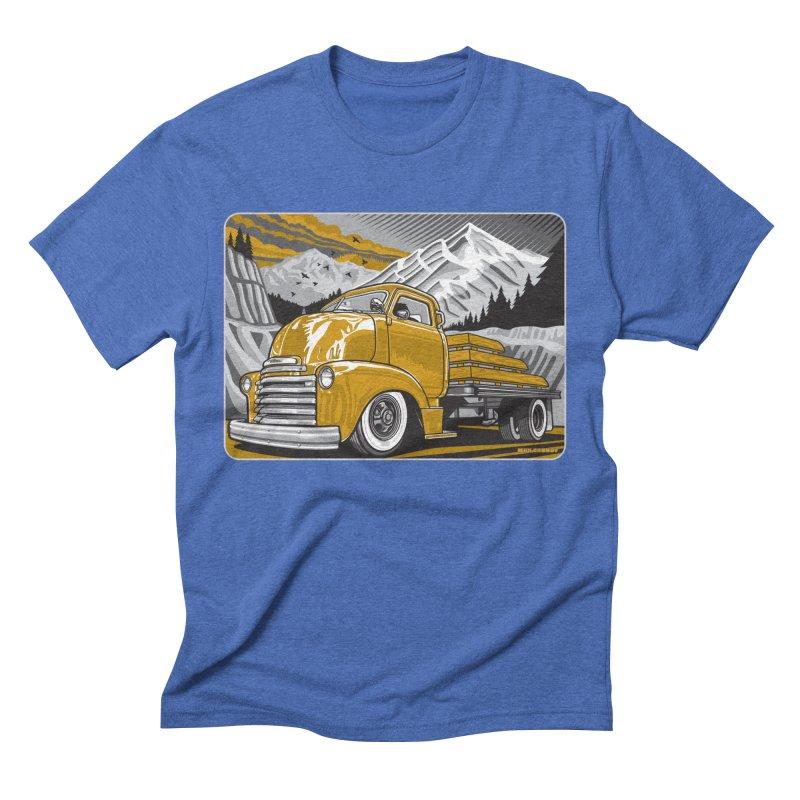 MOUNTAIN HARVEST Men's Triblend T-Shirt by Max Grundy Design's Artist Shop