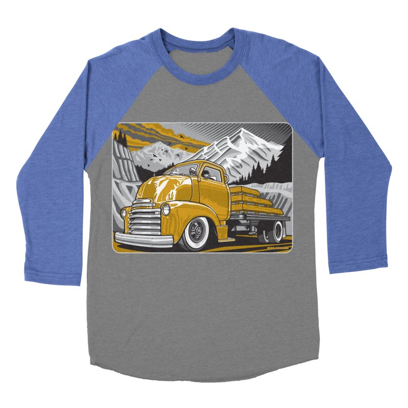 MOUNTAIN HARVEST Men's Baseball Triblend Longsleeve T-Shirt by Max Grundy Design's Artist Shop