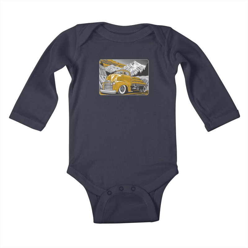 MOUNTAIN HARVEST Kids Baby Longsleeve Bodysuit by Max Grundy Design's Artist Shop
