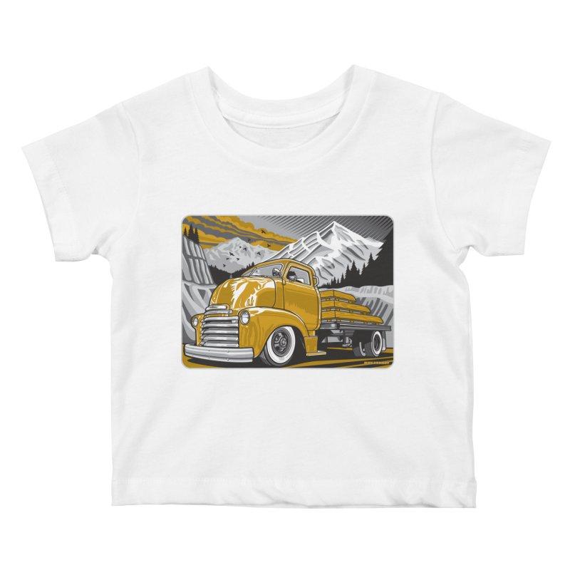 MOUNTAIN HARVEST Kids Baby T-Shirt by Max Grundy Design's Artist Shop