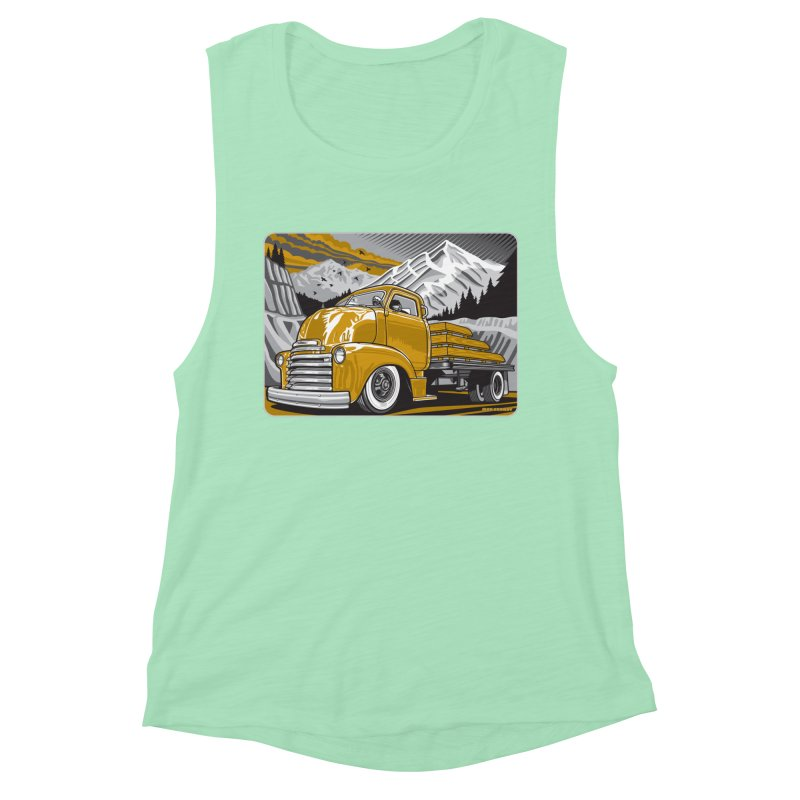 MOUNTAIN HARVEST Women's Muscle Tank by Max Grundy Design's Artist Shop