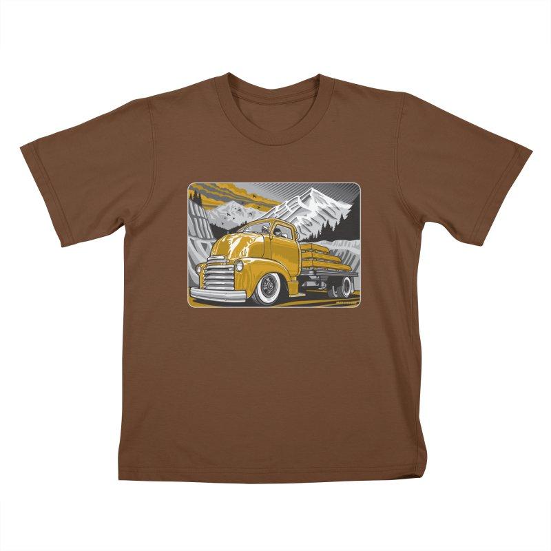 MOUNTAIN HARVEST Kids T-Shirt by Max Grundy Design's Artist Shop