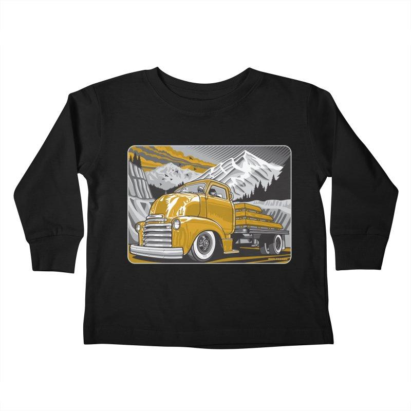 MOUNTAIN HARVEST Kids Toddler Longsleeve T-Shirt by Max Grundy Design's Artist Shop