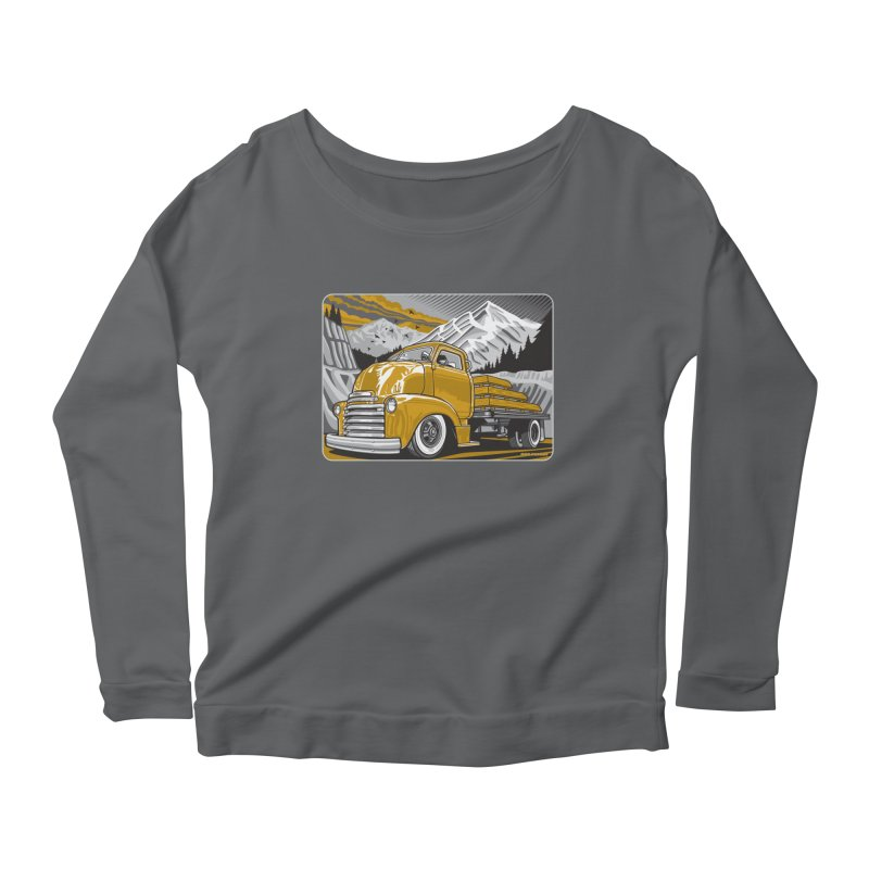 MOUNTAIN HARVEST Women's Scoop Neck Longsleeve T-Shirt by Max Grundy Design's Artist Shop