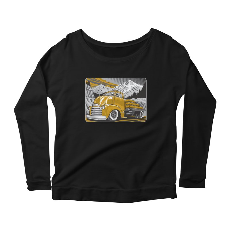 MOUNTAIN HARVEST Women's Scoop Neck Longsleeve T-Shirt by Max Grundy Design's Artist Shop