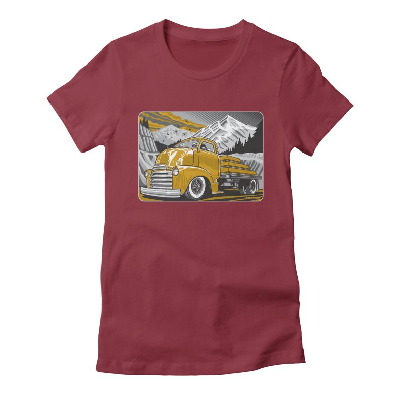 MOUNTAIN HARVEST Women's Fitted T-Shirt by Max Grundy Design's Artist Shop