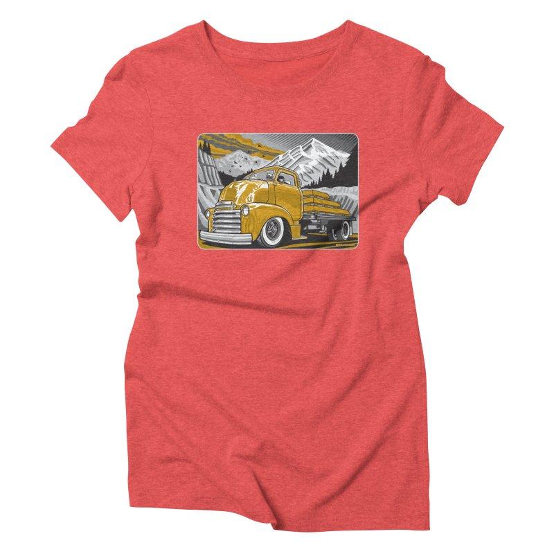 MOUNTAIN HARVEST Women's Triblend T-Shirt by Max Grundy Design's Artist Shop