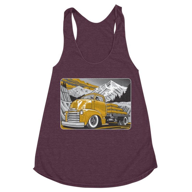 MOUNTAIN HARVEST Women's Racerback Triblend Tank by Max Grundy Design's Artist Shop