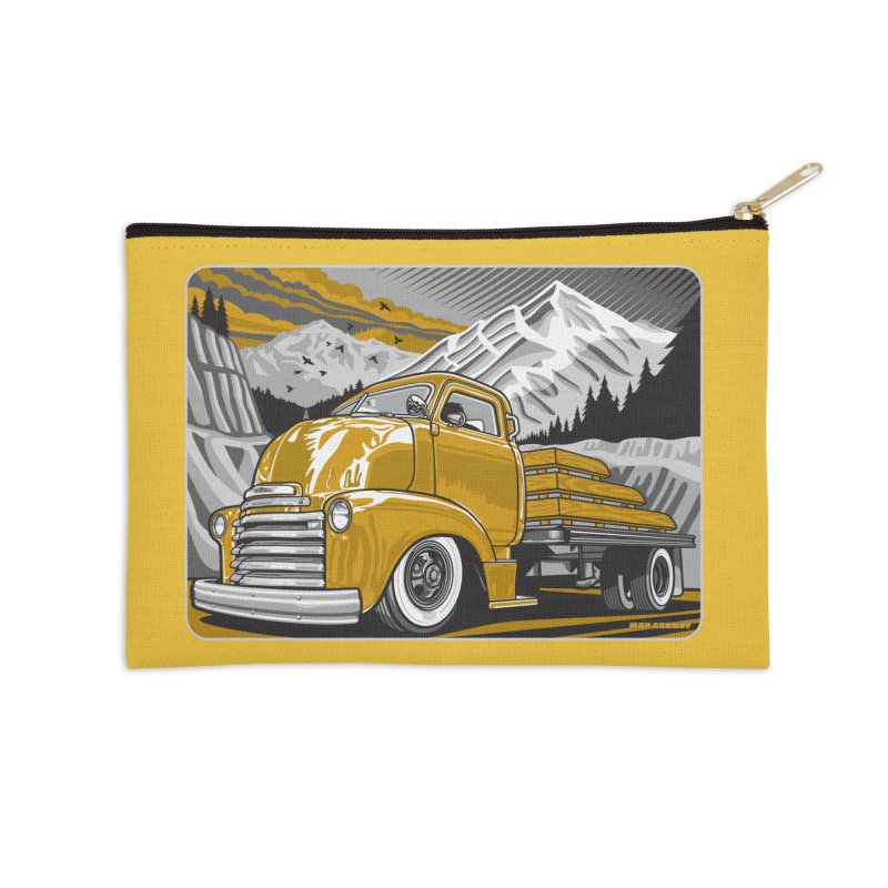MOUNTAIN HARVEST Accessories Zip Pouch by Max Grundy Design's Artist Shop