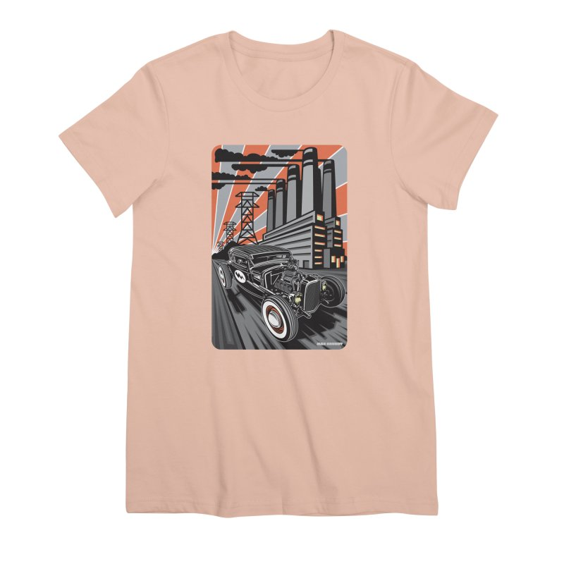 VOLTAGE HIGHWAY Women's Premium T-Shirt by Max Grundy Design's Artist Shop