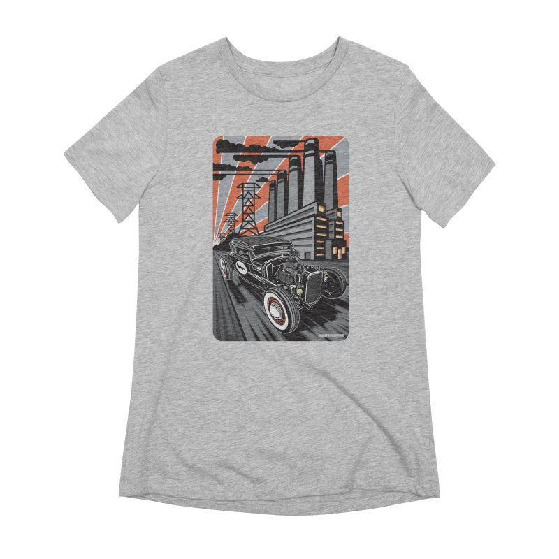 VOLTAGE HIGHWAY Women's Extra Soft T-Shirt by Max Grundy Design's Artist Shop