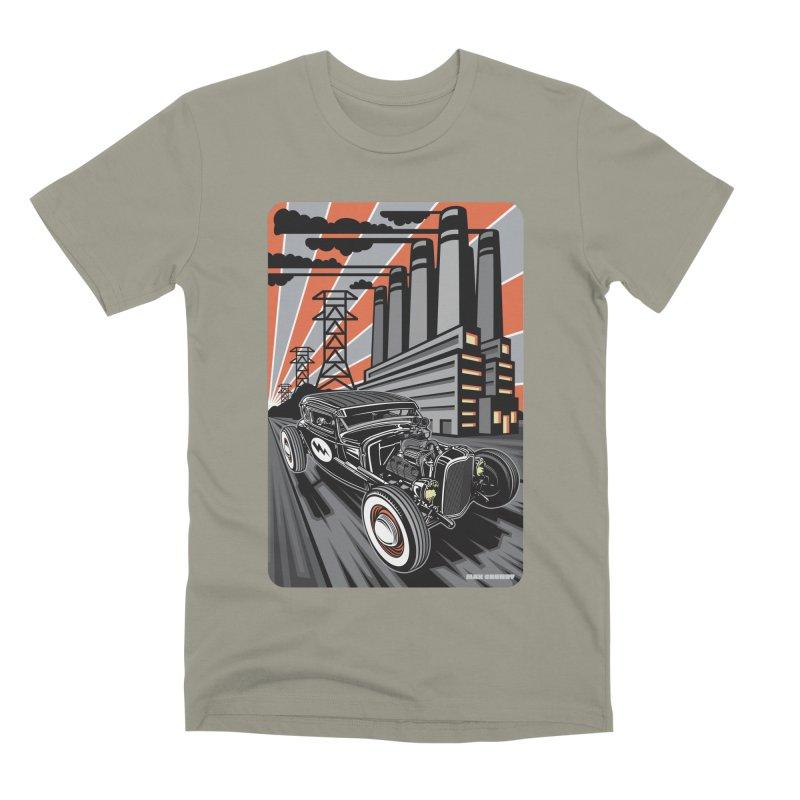 VOLTAGE HIGHWAY Men's Premium T-Shirt by Max Grundy Design's Artist Shop