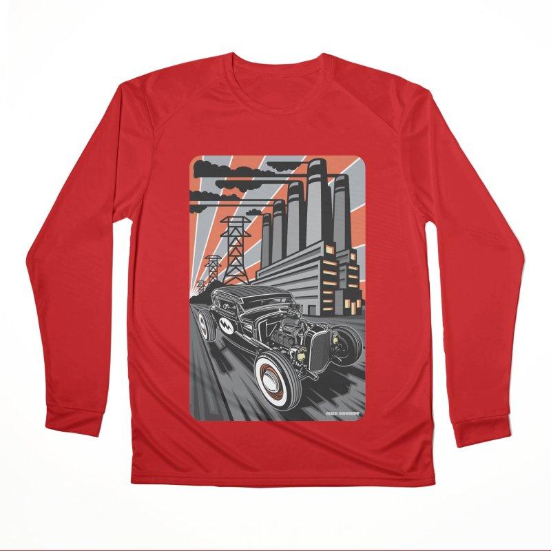 VOLTAGE HIGHWAY Women's Performance Unisex Longsleeve T-Shirt by Max Grundy Design's Artist Shop