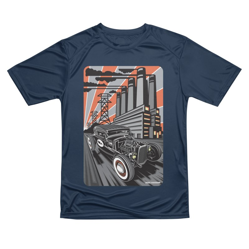 VOLTAGE HIGHWAY Men's Performance T-Shirt by Max Grundy Design's Artist Shop