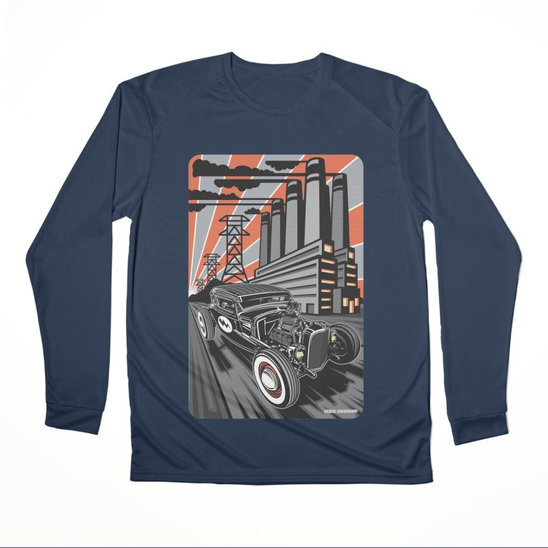 VOLTAGE HIGHWAY Men's Performance Longsleeve T-Shirt by Max Grundy Design's Artist Shop