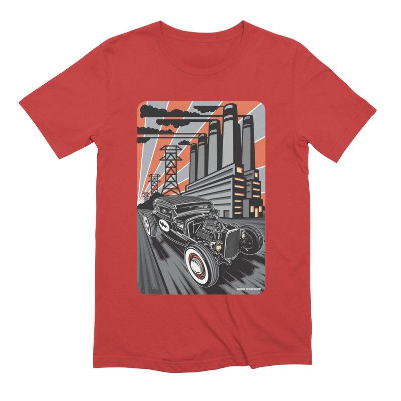 VOLTAGE HIGHWAY Men's Extra Soft T-Shirt by Max Grundy Design's Artist Shop