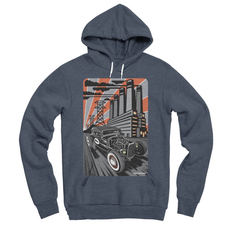 VOLTAGE HIGHWAY Men's Sponge Fleece Pullover Hoody by Max Grundy Design's Artist Shop