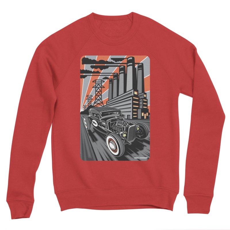 VOLTAGE HIGHWAY Men's Sponge Fleece Sweatshirt by Max Grundy Design's Artist Shop