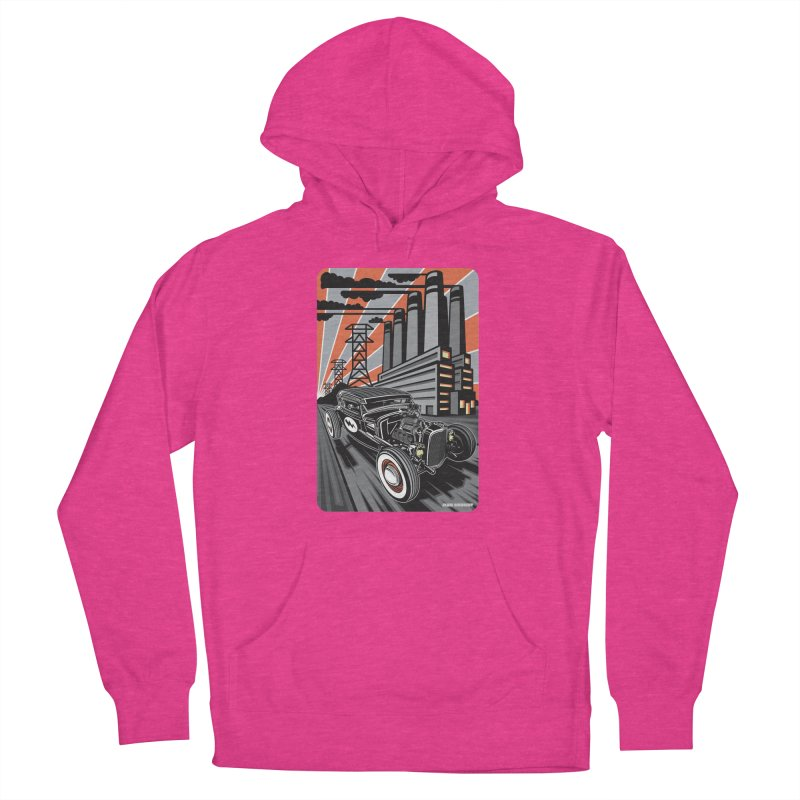 VOLTAGE HIGHWAY Women's French Terry Pullover Hoody by Max Grundy Design's Artist Shop