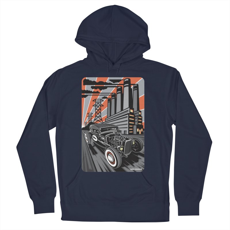VOLTAGE HIGHWAY Men's French Terry Pullover Hoody by Max Grundy Design's Artist Shop