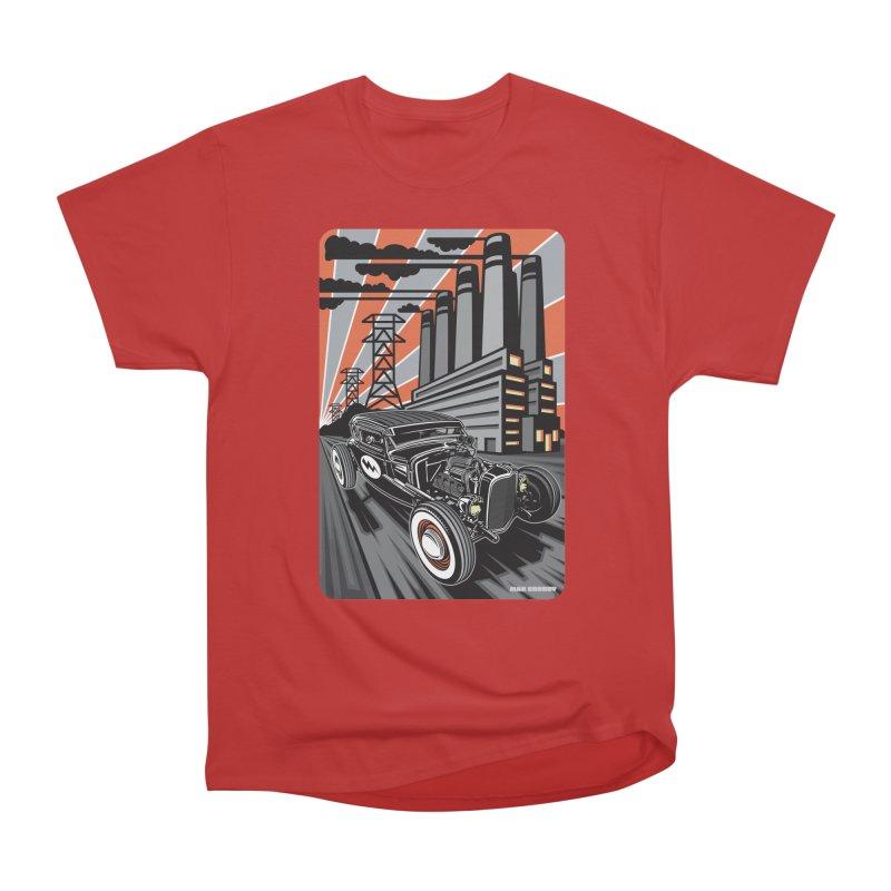 VOLTAGE HIGHWAY Men's Heavyweight T-Shirt by Max Grundy Design's Artist Shop