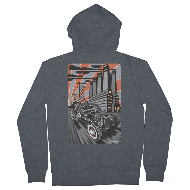 VOLTAGE HIGHWAY Women's French Terry Zip-Up Hoody by Max Grundy Design's Artist Shop