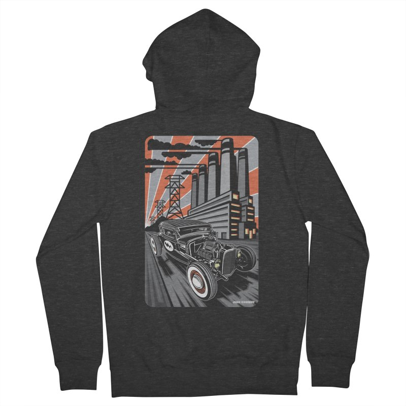 VOLTAGE HIGHWAY Men's French Terry Zip-Up Hoody by Max Grundy Design's Artist Shop
