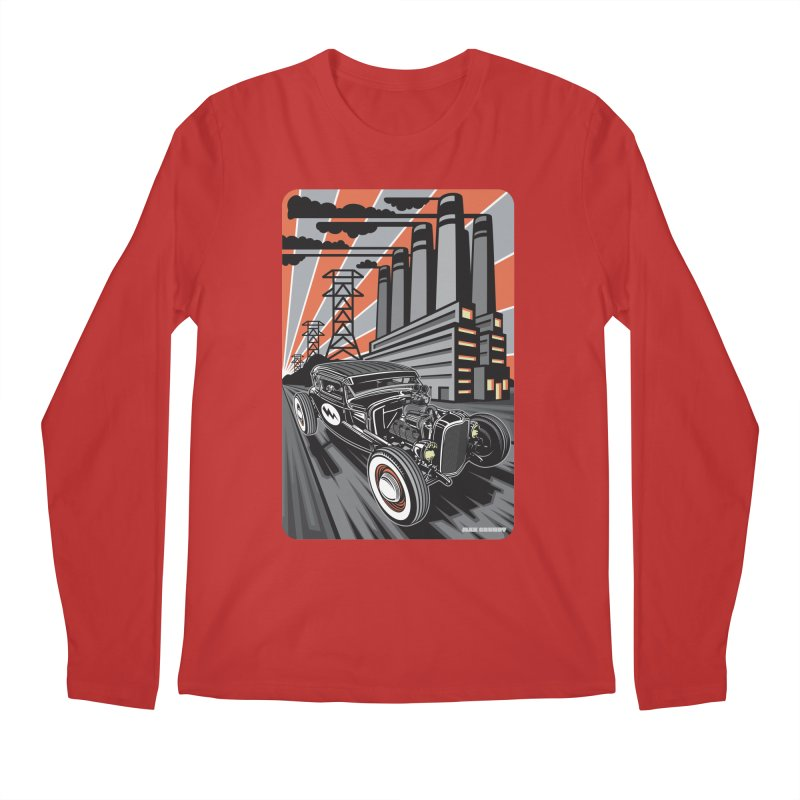 VOLTAGE HIGHWAY Men's Regular Longsleeve T-Shirt by Max Grundy Design's Artist Shop