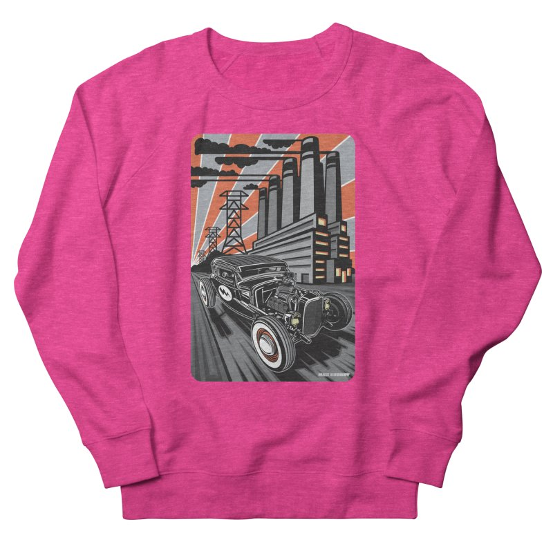 VOLTAGE HIGHWAY Women's French Terry Sweatshirt by Max Grundy Design's Artist Shop
