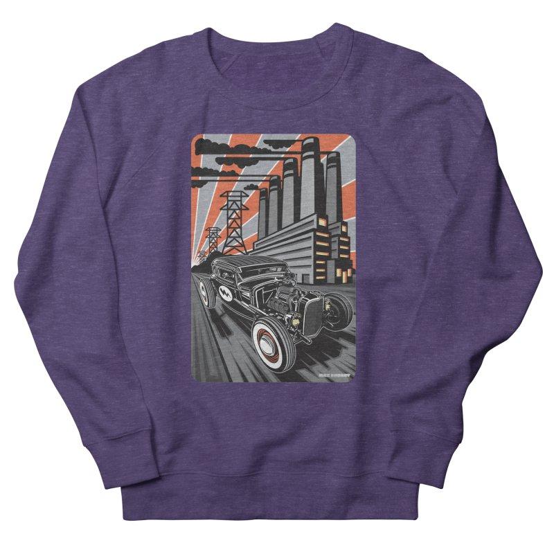 VOLTAGE HIGHWAY Men's French Terry Sweatshirt by Max Grundy Design's Artist Shop