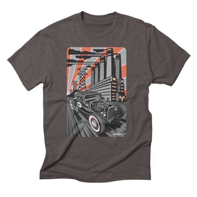 VOLTAGE HIGHWAY Men's Triblend T-Shirt by Max Grundy Design's Artist Shop