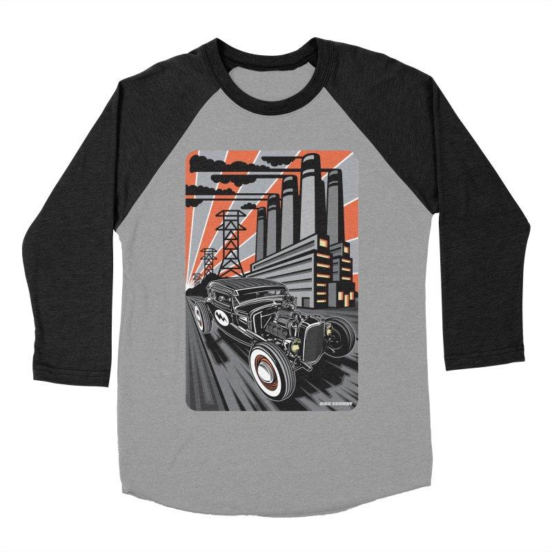 VOLTAGE HIGHWAY Women's Baseball Triblend Longsleeve T-Shirt by Max Grundy Design's Artist Shop