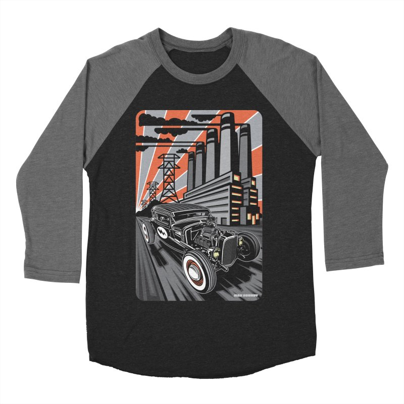 VOLTAGE HIGHWAY Men's Baseball Triblend Longsleeve T-Shirt by Max Grundy Design's Artist Shop