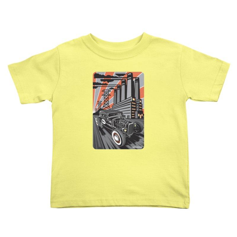 VOLTAGE HIGHWAY Kids Toddler T-Shirt by Max Grundy Design's Artist Shop