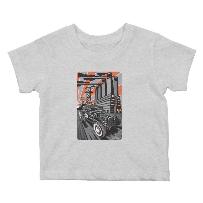VOLTAGE HIGHWAY Kids Baby T-Shirt by Max Grundy Design's Artist Shop