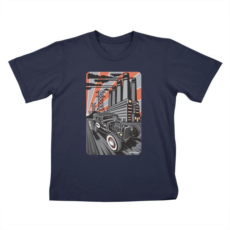 VOLTAGE HIGHWAY Kids T-Shirt by Max Grundy Design's Artist Shop